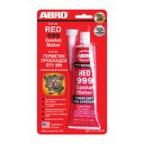 Герметик силикон. ABRO красный  OEM 999 - 85г в блистере